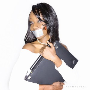 Carla Franklin for the NoH8 campaign
