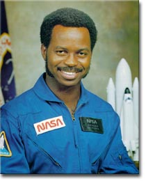 Photo of Ron McNair from the Space Shuttle Challenger; Carla Franklin