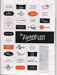 More Magazine - Fierce List; Carla Franklin